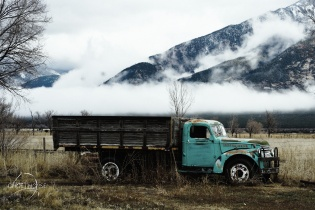 Blue cloud truck