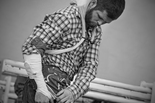 Saddle Bronc Rider-Rodeo de Santa Fe