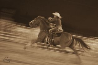 Barrel Racer-Rodeo de Santa Fe